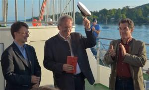 Christian Ude in der Mitte, Tim Weidner links, Klaus Barthel rechts
